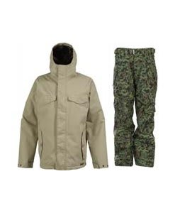 Burton Entourage Jacket Sandstoner w/ Ride Phinney Pants Mind Games Canteen