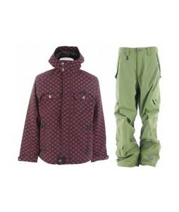 Burton Entourage Jacket Totally Pink w/ Sessions Achilles Pants Lime