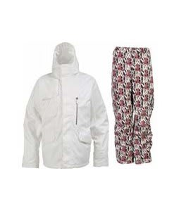 Burton Esquire Jacket Bright White w/ Burton Cargo Pants Afterglow Gallery