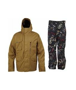 Burton Esquire Jacket Sherpa w/ Burton Vent Pants True Black Fruity Tiger Print