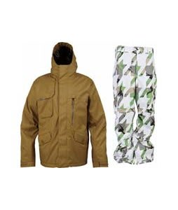 Burton Esquire Jacket Sherpa w/ Burton Cargo Pants Bright White Hounds