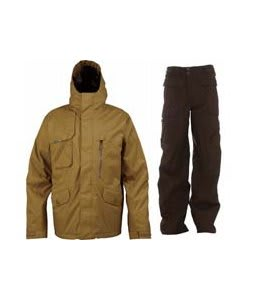 Burton Esquire Jacket Sherpa w/ Burton Ronin Cargo Pants Mocha