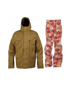 Burton Esquire Jacket Sherpa w/ Foursquare Wong Pants Fall Leaves