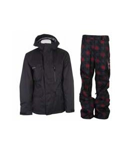 Burton Esquire Jacket True Black w/ Burton Poacher Pants True Black Native