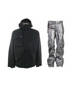 Burton Esquire Jacket True Black w/ Burton TWC Signature Trench Pants Plaid Divsn Blotto
