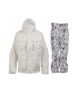 Burton Field Jacket Bright White w/ Burton Vent Pants Good Trip Print