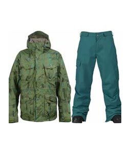 Burton Field Jacket Chlrophyl Trnchs Pld w/ Burton Cargo Pants Gmp Iroquois