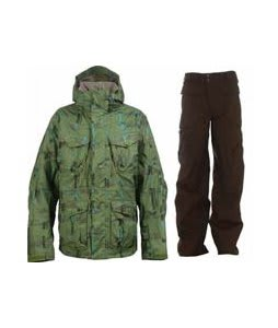 Burton Field Jacket Chlrophyl Trnchs Pld w/ Burton Ronin Cargo Pants Mocha