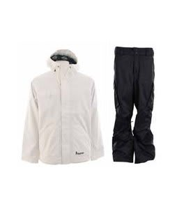 Burton Ice Wizard Jacket Bright White w/ Burton Fife Pants True Black