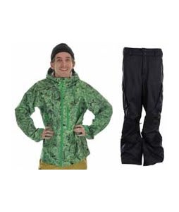 Burton Idiom Continuum 2.5L Jacket False Lily Print w/ Burton Fife Pants True Black