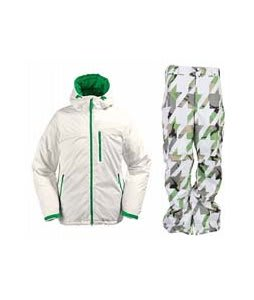 Burton Idiom Continuum Down Jacket Bright White w/ Burton Cargo Pants Bright White Hounds