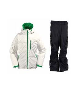 Burton Idiom Continuum Down Jacket Bright White w/ Burton Fife Pants True Black