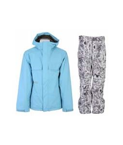 Burton Poacher Jacket Dolphinium w/ Burton Vent Pants Good Trip Print