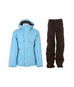 Burton Poacher Jacket Dolphinium w/ Burton Ronin Cargo Pants Mocha