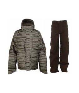 Burton Slub Jacket Trnch Green Seepage w/ Burton Ronin Cargo Pants Mocha