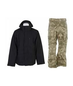 Burton Slub Jacket True Black w/ Burton Cargo Pants Mosaic Martini