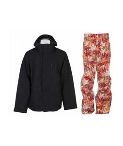 Burton Slub Jacket True Black w/ Foursquare Wong Pants Fall Leaves