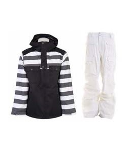 Burton Southsider Jacket Blotto Grey Jailhouse Stp Prt w/ Burton Ronin Cargo Pants Leopard