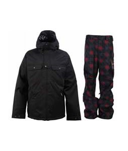 Burton Southsider Jacket True Black w/ Burton Poacher Pants True Black Native