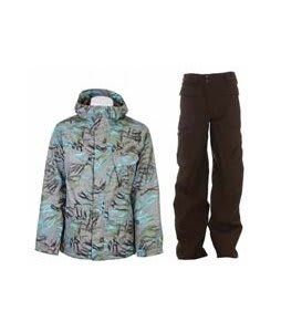 Burton Traction Jacket Gmp Haze Fruity Tiger Print w/ Burton Ronin Cargo Pants Mocha