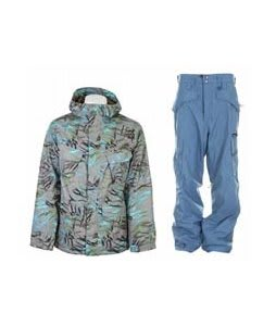 Burton Traction Jacket Gmp Haze Fruity Tiger Print w/ Special Blend C3 Division Pants Memento