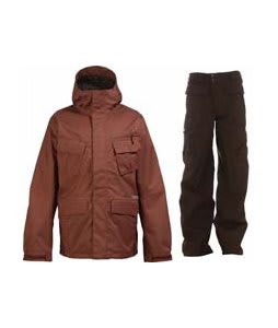 Burton Traction Jacket Ox Blood w/ Burton Ronin Cargo Pants Mocha
