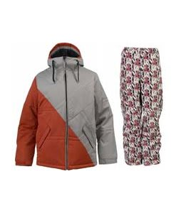 Burton TWC Pufalufagus Jacket Hydrant/Iron Grey w/ Burton Cargo Pants Afterglow Gallery