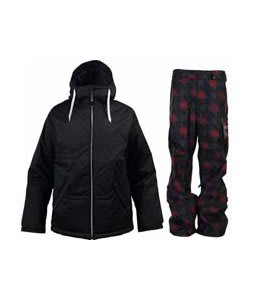Burton TWC Puffaluffagus Jacket True Black w/ Burton Poacher Pants True Black Native