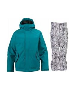 Burton TWC Such A Deal Jacket Prism w/ Burton Vent Pants Good Trip Print