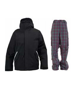 Burton TWC Such A Deal Jacket True Black w/ Burton Apres Pants Sky Apres Plaid