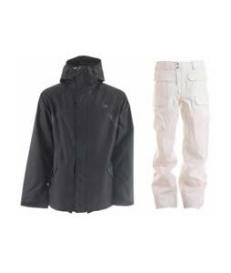 DC Amo Jacket Black w/ Burton Ronin Cargo Snowboard Pant Bright White