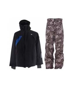 DC Helix Jacket Black w/ Foursquare Wong Pants Black Leaves