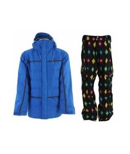 DC Merida Jacket Lapis w/ Sessions Gridlock Pants Black Multi Stargyle