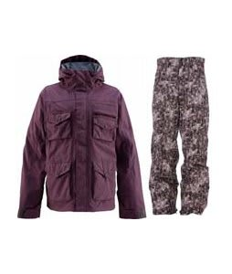 Foursquare Fabian Jacket Purple Dawn w/ Foursquare Wong Pants Black Leaves