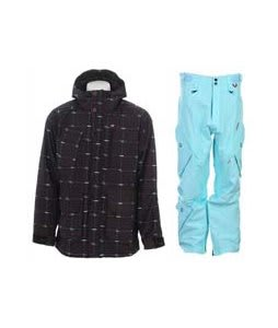 Foursquare PJ Jacket Black Logo Grid w/ Foursquare Q Pants Keep Cool