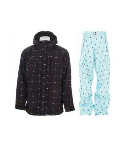 Foursquare PJ Jacket Black Logo Grid w/ Foursquare Yeung Pants Keep Cool Leaf Grid