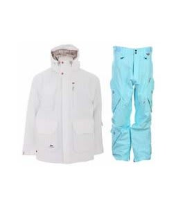 Foursquare PJ Jacket White w/ Foursquare Q Pants Keep Cool