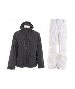 Foursquare Stevo Jacket Black w/ Burton Ronin Cargo Pants Leopard