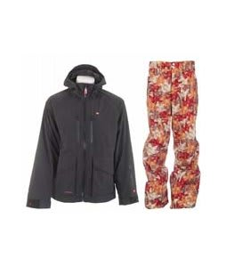 Foursquare Stevo Jacket Black w/ Foursquare Wong Pants Fall Leaves