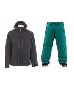 Foursquare Stevo Jacket Black w/ Foursquare Wong Pants Emerald