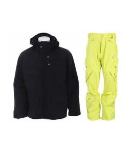 Foursquare Wright Jacket Black w/ Foursquare Q Pants Citron