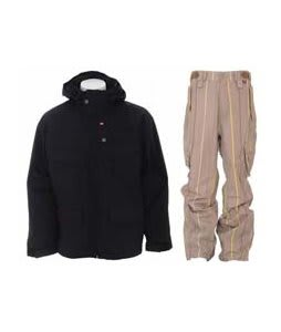 Foursquare Wright Jacket Black w/ Foursquare Boswell Pants Tan A Poppin