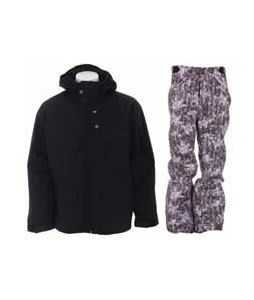 Foursquare Wright Jacket Black w/ Foursquare Trappe Pants Black Leaves