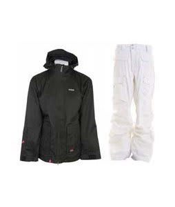 Foursquare Wright Jacket Black Dress Shirt w/ Burton Ronin Cargo Pants Leopard