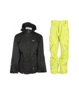 Foursquare Wright Jacket Black Dress Shirt w/ Foursquare Q Pants Citron