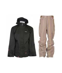 Foursquare Wright Jacket Black Dress Shirt w/ Foursquare Boswell Pants Tan A Poppin