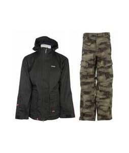 Foursquare Wright Jacket Black Dress Shirt w/ Sessions Movement Pants Green Camo