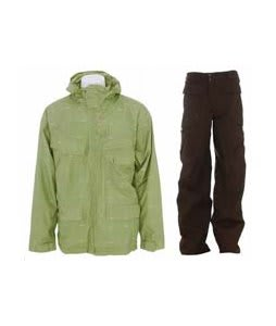 Foursquare Wright Jacket Da Nile Logo Grid w/ Burton Ronin Cargo Pants Mocha