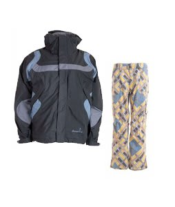 Bonfire Fusion Reflection Jacket Graphite/Ocean w/ Burton Lucky Snowboard Pant Banana Explaided