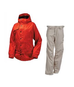 Burton After Hours Jacket Infared w/ Foursquare Kim Pants Sandstone Hatch